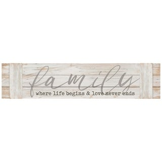 Family. Where Life Begins Pallet Décor