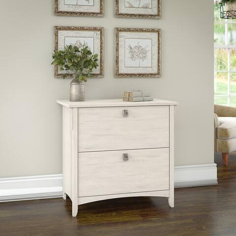 Bush Furniture Salinas Lateral File Cabinet in Antique White