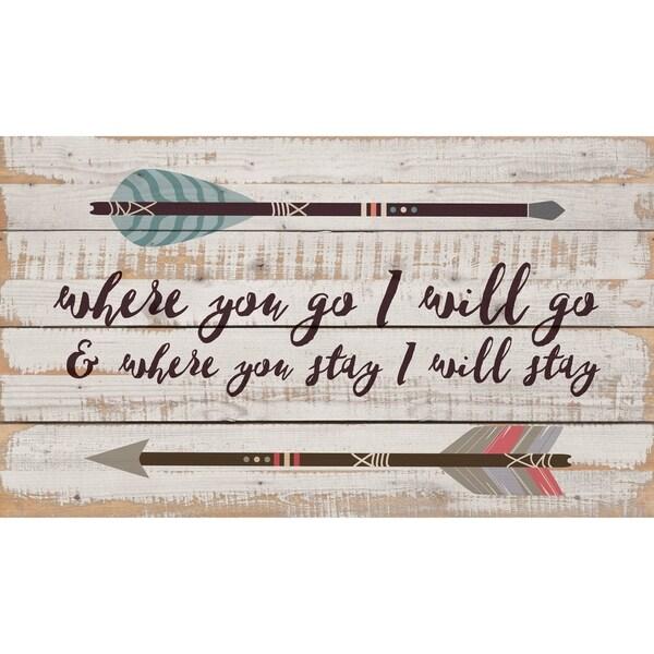 Where You Go, I Will Go Pallet Décor