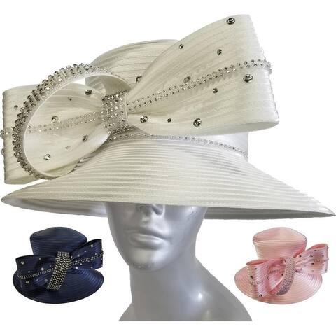 d398b3995d70e Women s Kentucky Derby Designer Couture Wedding Satin Ribbon Hat