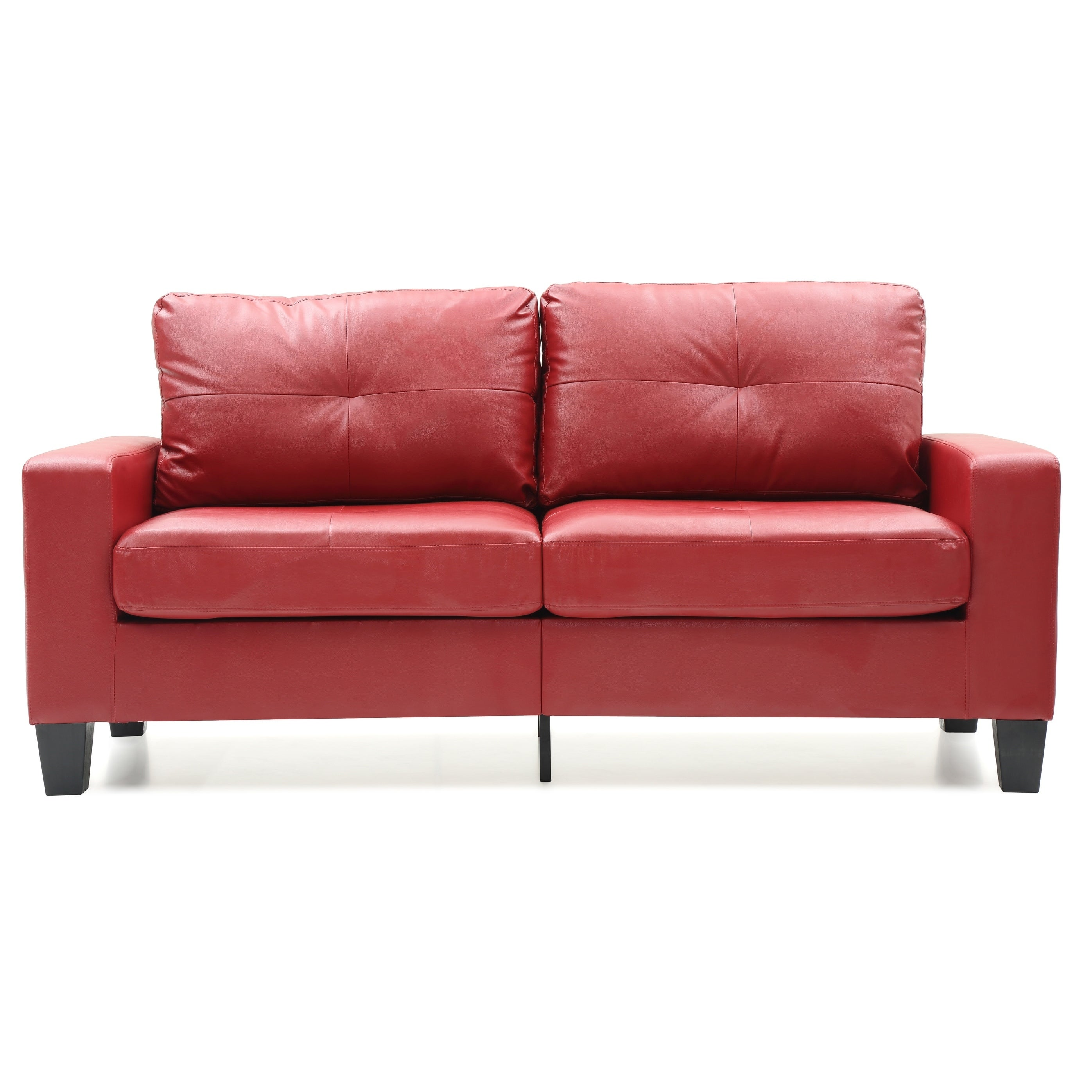 LYKE Home Contemporary Red Sofa