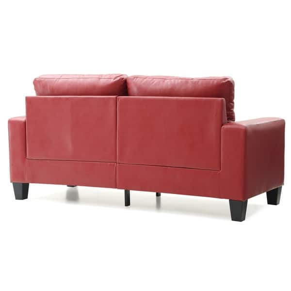 Shop LYKE Home Contemporary Red Sofa - On Sale - Free ...