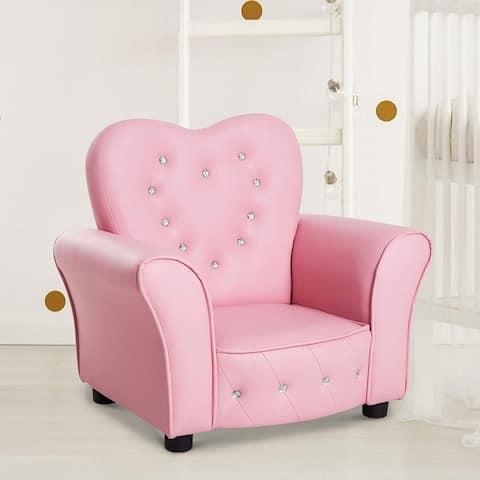 Taylor & Olive Estella Pink Upholstered Kids Chair