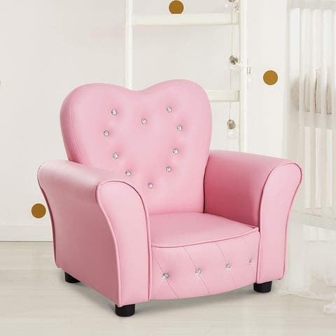 Taylor & Olive Estella Pink Upholstered Kids Chair