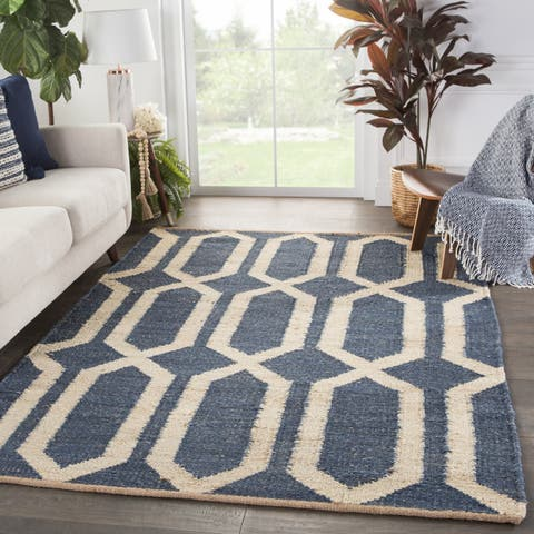 Carson Carrington Ubblixbo Geometric Natural Trellis Area Rug