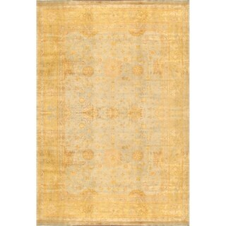 Pasargad Home Oushak Collection Hand-Knotted Lamb's Wool Area Rug - 12' x 18'