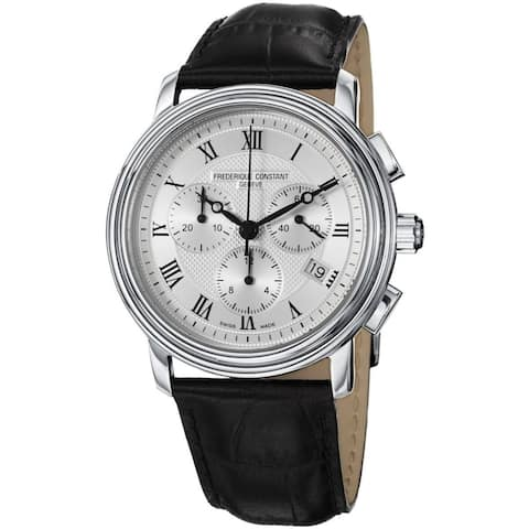 Frederique Constant Men's FC-292MC4P6 'Persuasion' Chronograph Black Leather Watch