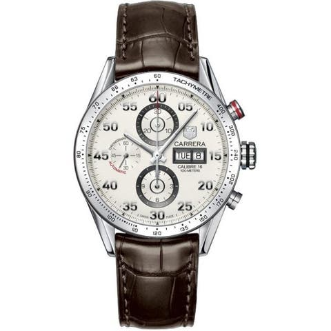 Tag Heuer Men's CV2A11.FC6236 'Carrera' Chronograph Brown Leather Watch