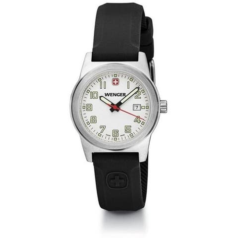 Wenger Women's 01.0411.108 'Field Classic' Black Silicone Watch