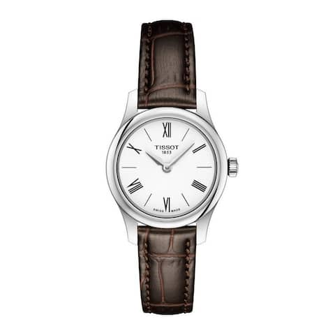Tissot Women's T0630091601800 'Tradition 5.5' Brown Leather Watch
