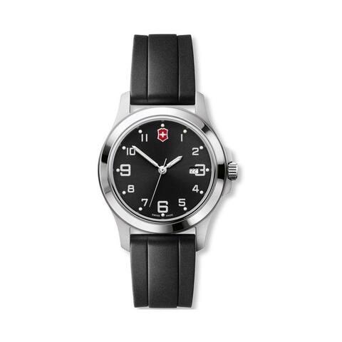 Victorinox Swiss Army Women's 26060.CB 'Garrison Elegance' Black Silicone Watch