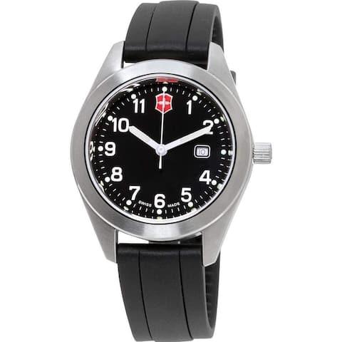 Victorinox Swiss Army Women's 26033CB 'Garrison' Black Silicone Watch