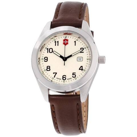 Victorinox Swiss Army Women's 26029.CB 'Garrison' Brown Leather Watch