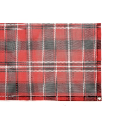 Stephan Roberts Woven Outdoor Mat w/Grommets 6.5' x 20', Plaid