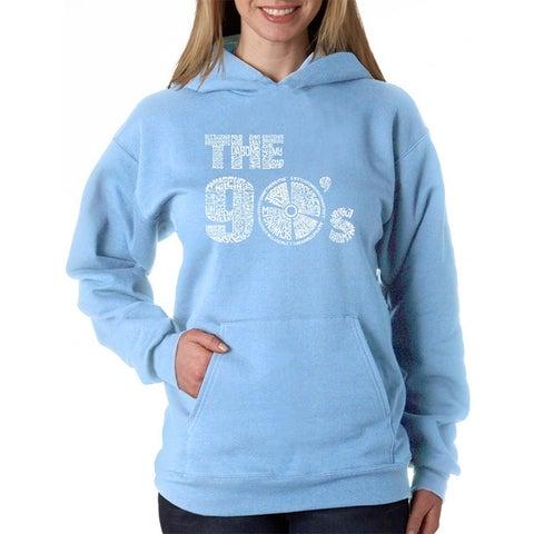 Women's Word Art Hooded Sweatshirt -90S - LA Pop Art