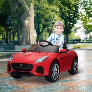 Aosom 12V Jaguar F-Type SVR Kids Battery Powered Ride On Car with Parent Remote Control - Red