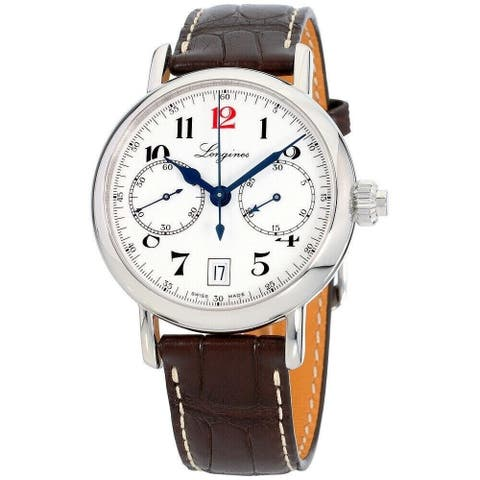 Longines Men's L2.775.4.23.3 'Heritage' Chronograph Brown Leather Watch