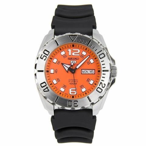 Seiko Men's SRPB39J1 'Sports' Black Rubber Watch