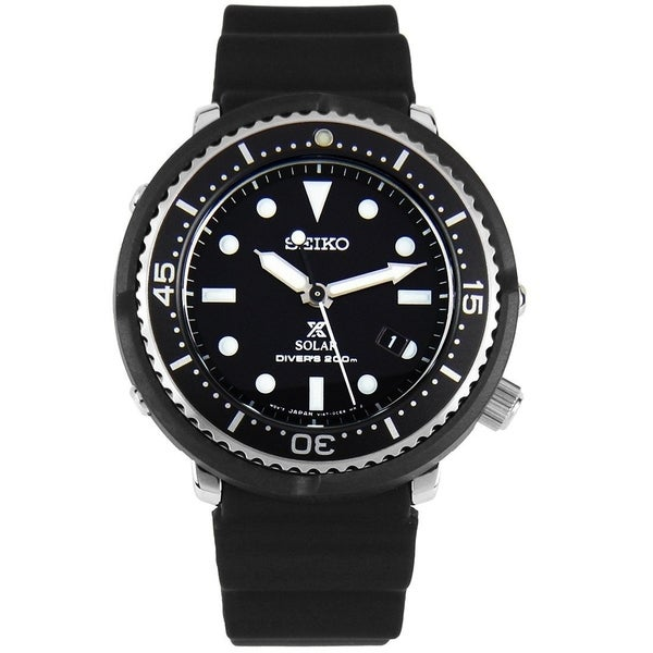 b01d4f155 Shop Seiko Men's STBR007 'Prospex' Black Silicone Watch - Free Shipping  Today - Overstock - 28014454