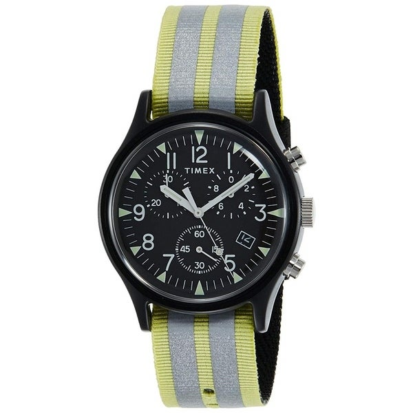 ee3a3536c Shop Timex Men's TW2R81400 'MK1' Chronograph Two-Tone Nylon Watch - Free  Shipping Today - Overstock - 28014465