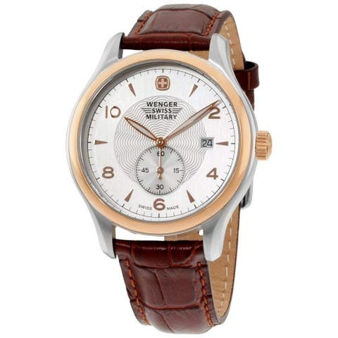Wenger Men's 79313C 'Wenger' Brown Leather Watch