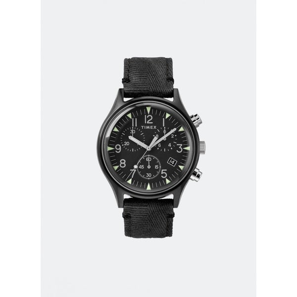 f80bd4084 Shop Timex Men's TW2R68700 'MK1' Chronograph Black Fabric Watch - Free  Shipping Today - Overstock - 28014485