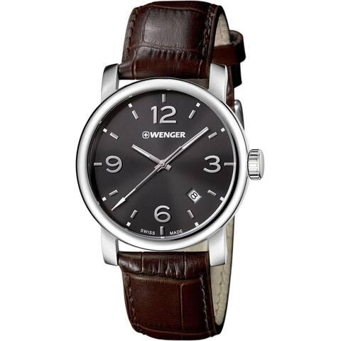 Wenger Men's 01.1041.128 'Urban Metroplolitan' Brown Leather Watch