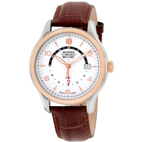 Wenger Men's 79306C 'Swiss Military' Brown Leather Watch