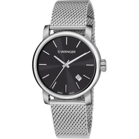 Wenger Men's 01.1041.140 'Urban Vintage' Stainless Steel Watch