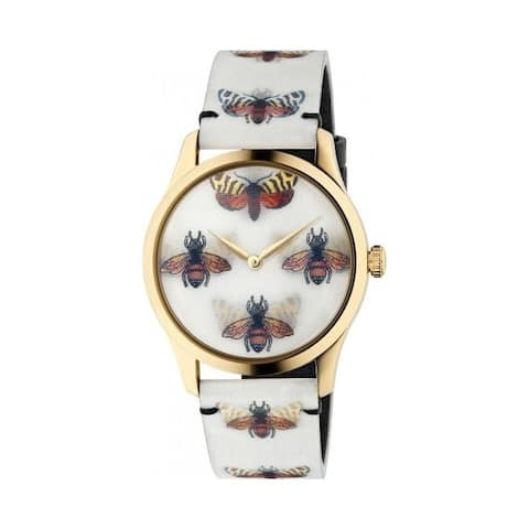 a39d6dc3117 Gucci Women s YA1264109  G-Timeless Hologram  Multicolored Leather Watch