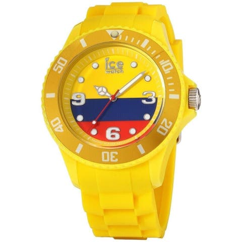 Ice Watch Unisex WO.CO.B.S.12 'Ice-World' Yellow Silicone Watch