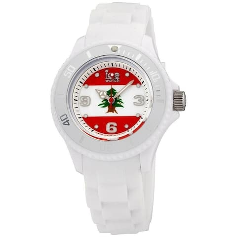 Ice Watch Unisex WO.LB.S.S.12 'Ice-World' White Silicone Watch