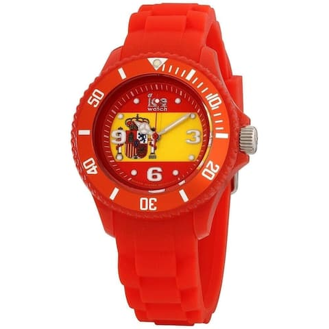 Ice Watch Unisex WO.ES.S.S.12 'Ice-World' Red Silicone Watch