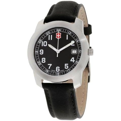 Victorinox Swiss Army Women's 26010.CB 'Classic' Black Leather Watch
