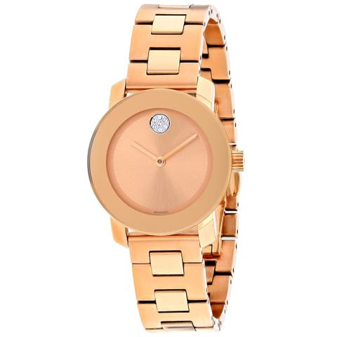 Movado Women's 3600550 'Bold' Rose Gold-Tone Stainless Steel Watch