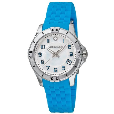 Wenger Women's 01.0121.102 'Squadron' Blue Silicone Watch