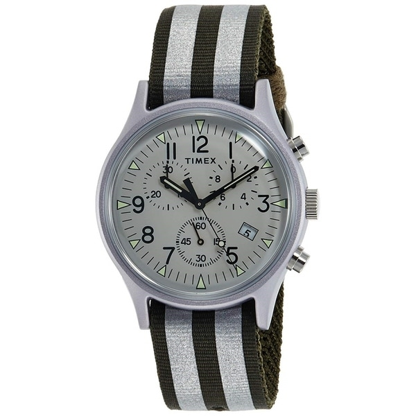 12bf20c45 Shop Timex Unisex TW2R81300 'MK1' Chronograph Two-Tone Nylon Watch - Free  Shipping Today - Overstock - 28014609