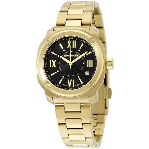 Wenger Women's 01.1121.114 'Wenger' Gold-Tone Stainless Steel Watch