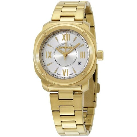 Wenger Women's 01.1121.113 'Wenger' Gold-Tone Stainless Steel Watch