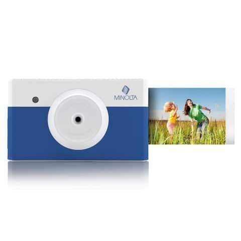 Minolta Instapix All in One Instant Print Digital Camera & Bluetooth Printer, Blue