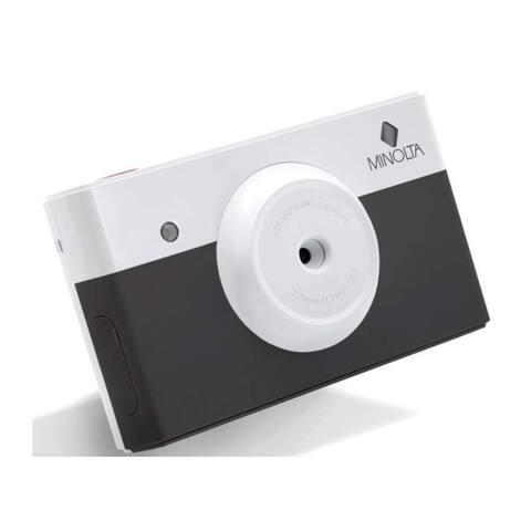 Minolta Instapix All in One Instant Print Digital Camera & Bluetooth Printer, Charcoal