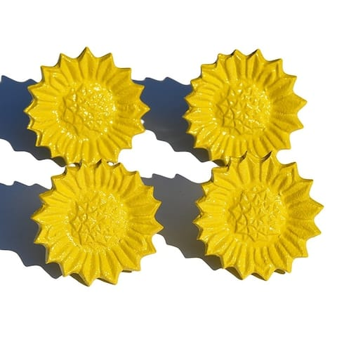 Sunflower Napkin Ring Set of 4