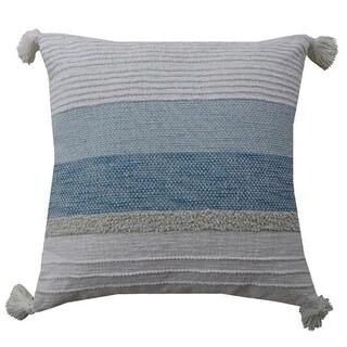 """Blue Breeze Throw Pillow 22""""X22"""" Handloom"""