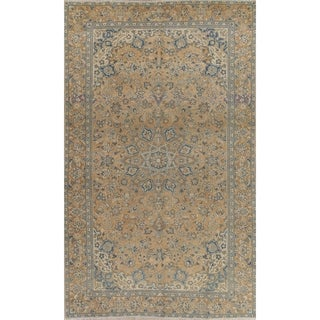 "Vintage Muted Kashan Hand Knotted Wool Persian Distressed Area Rug - 10'3"" x 6'2"""
