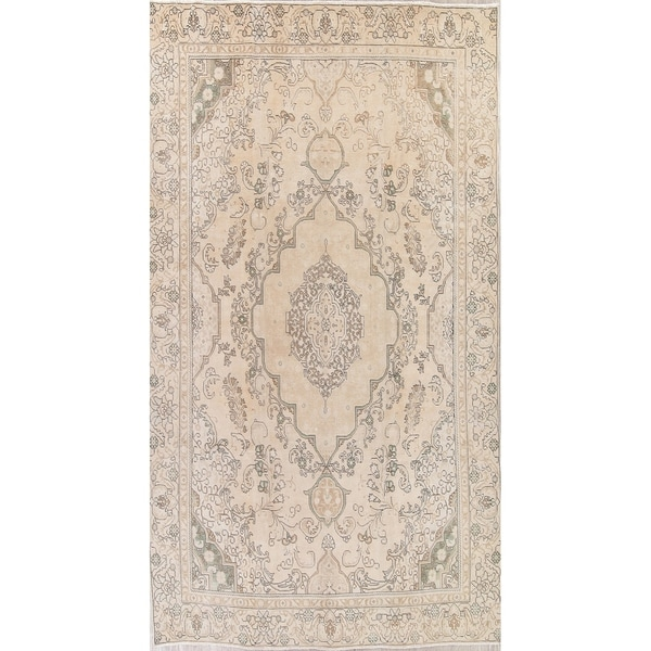 643e26acea Vintage Muted Tabriz Hand Knotted Wool Persian Distressed Area Rug -  12'1. Click to Zoom