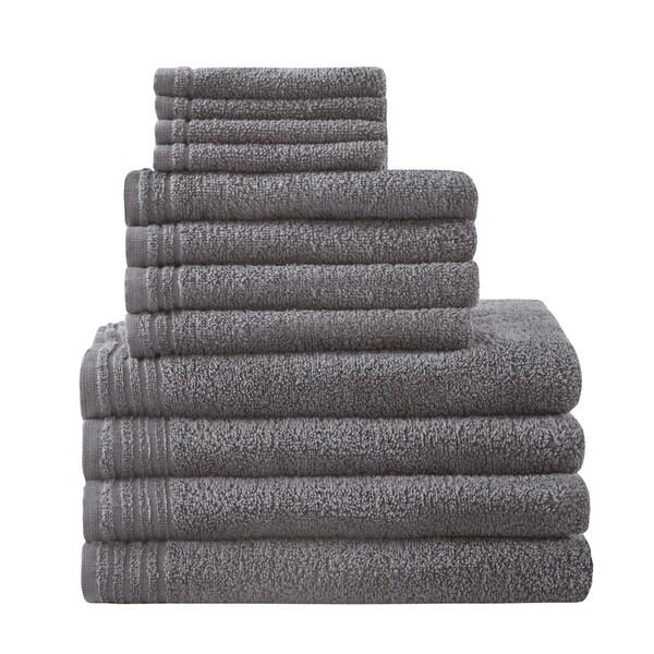 510 Design Big Bundle 100-percent Cotton 12 Piece Bath Towel Set