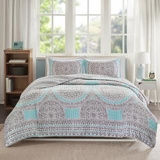 Comfort Spaces Nicole Aqua Quilt Mini Set