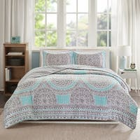Comfort Spaces Nicole Aqua Quilt Mini Set
