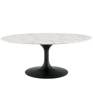 "Lippa 42"" Oval-Shaped Coffee Table"