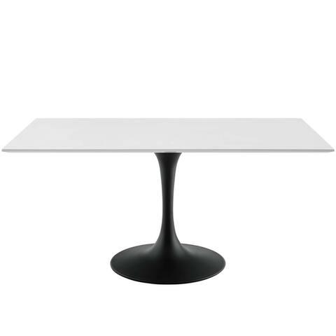 "Lippa 60"" Rectangle Dining Table - Black White"